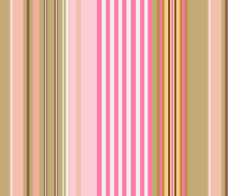 Yummy monkey/ stripe fabric by paragonstudios on Spoonflower - custom fabric