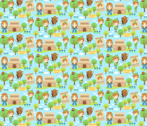 Robin Hood fabric by smilerecipe on Spoonflower - custom fabric