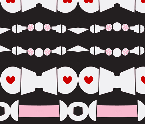 Seatbelts of Love fabric by boris_thumbkin on Spoonflower - custom fabric