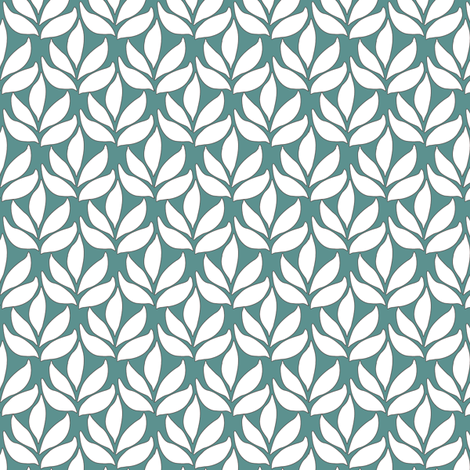 Leaf_texture_sm_white_MINAGREEN fabric by mina on Spoonflower - custom fabric