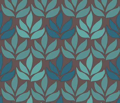 LG-leaf-texture-minagreen-BROWN fabric by mina on Spoonflower - custom fabric