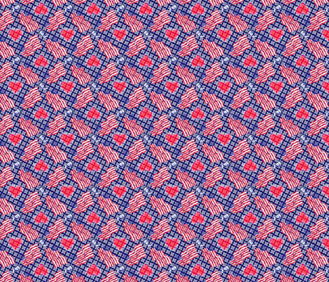©2011  America is Beautiful! fabric by glimmericks on Spoonflower - custom fabric