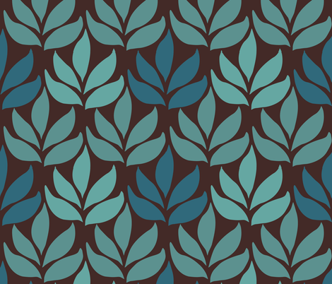 LG-leaf-texture-minagreen-DARKBROWN fabric by mina on Spoonflower - custom fabric