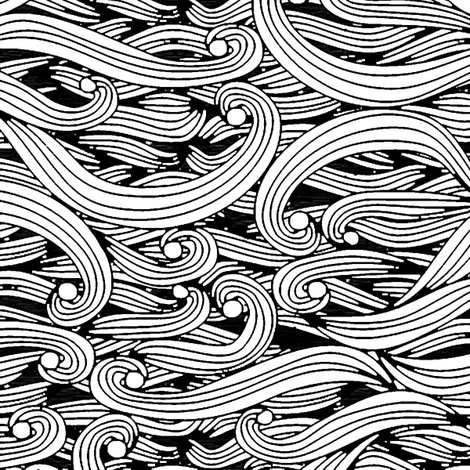 Undulations (B&W) fabric by leighr on Spoonflower - custom fabric