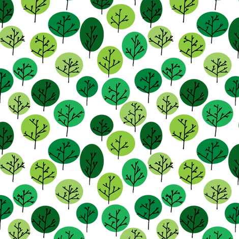 Trees in Summer fabric by leighr on Spoonflower - custom fabric