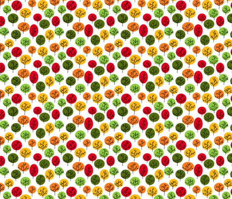 Trees in Autumn fabric by leighr on Spoonflower - custom fabric
