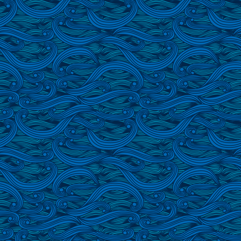 Undulations (sea) fabric by leighr on Spoonflower - custom fabric