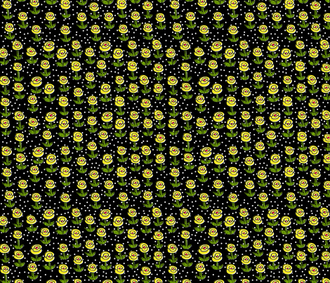 Yellow Teeny Flowers fabric by erinina on Spoonflower - custom fabric