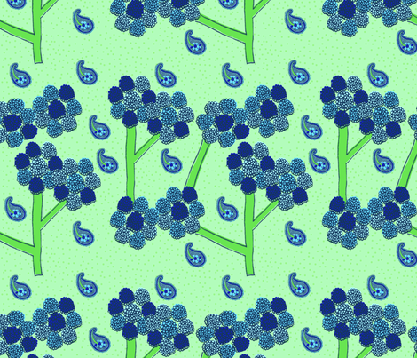 Dotted Tree Paislies fabric by erinina on Spoonflower - custom fabric