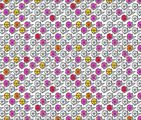 Bright Peony fabric by erinina on Spoonflower - custom fabric