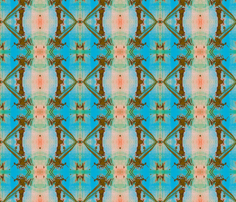 Bamboo Forest and Blue Skies fabric by susaninparis on Spoonflower - custom fabric