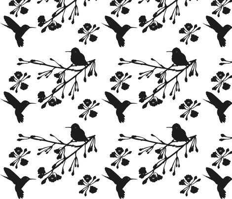 Hummingbird fabric by bussybuffu on Spoonflower - custom fabric
