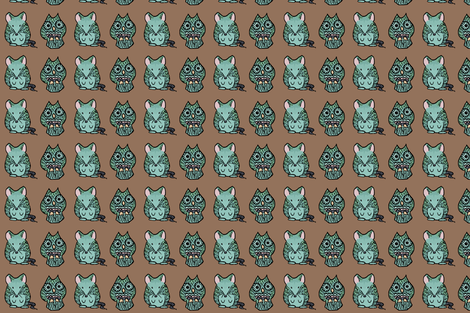 A Mouse and an Owl I. fabric by pond_ripple on Spoonflower - custom fabric