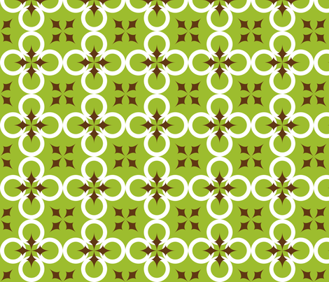 Green Mod Circle fabric by audreyclayton on Spoonflower - custom fabric