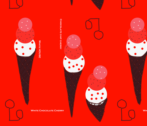icecream fabric by spharris on Spoonflower - custom fabric
