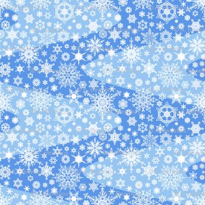 Snowflake Waves - Blue