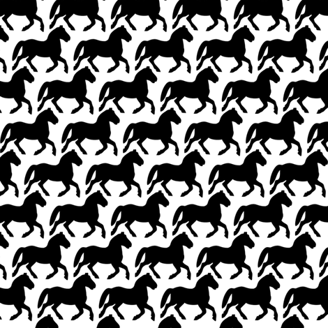 Black Velvet Ponies fabric by meredithjean on Spoonflower - custom fabric