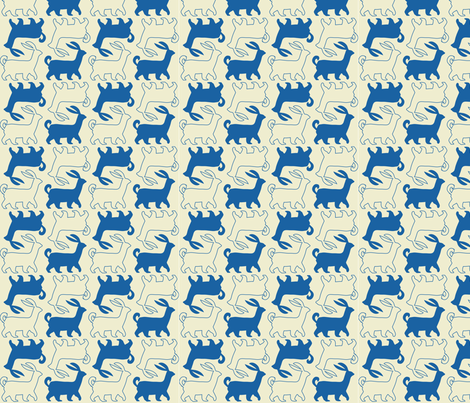 animal_wood fabric by jonthedon on Spoonflower - custom fabric