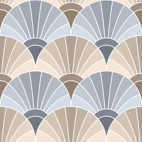 temp. custom fan scales fabric by sef on Spoonflower - custom fabric