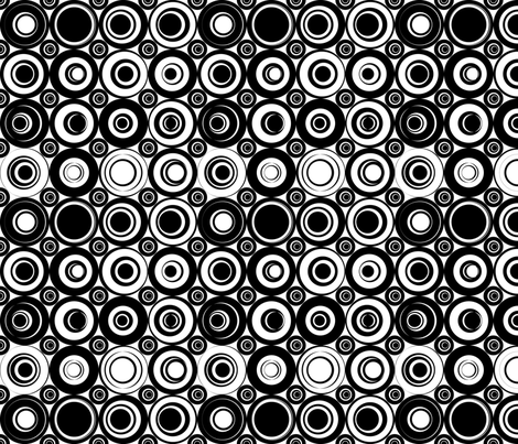 black_white_dots fabric by thestylishrabbit on Spoonflower - custom fabric