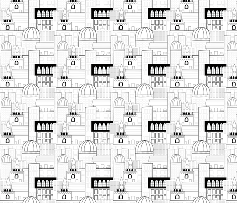 CityScape fabric by shannonkornis on Spoonflower - custom fabric