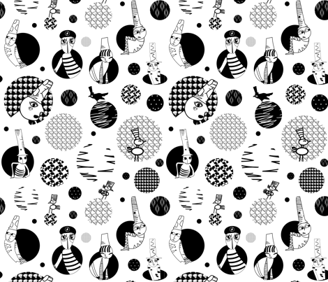 Curiosos / Curious fabric by maruqui on Spoonflower - custom fabric