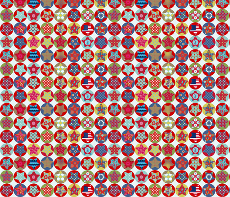 etoile_nuance_vintage_S fabric by nadja_petremand on Spoonflower - custom fabric