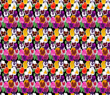 Pansies fabric by nezumiworld on Spoonflower - custom fabric