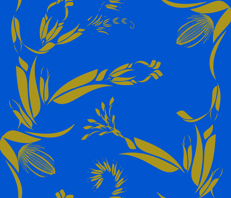 Duo Tone Blue and Gold fabric by joanmclemore on Spoonflower - custom fabric