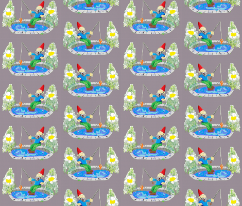 Bob the Gnome fabric by jaja on Spoonflower - custom fabric
