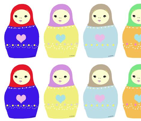 Matryoshka fabric by itybitybags on Spoonflower - custom fabric