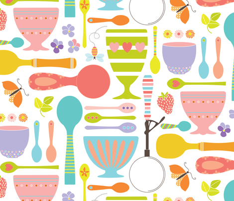 Ice Cream Paraphernalia fabric by kayajoy on Spoonflower - custom fabric