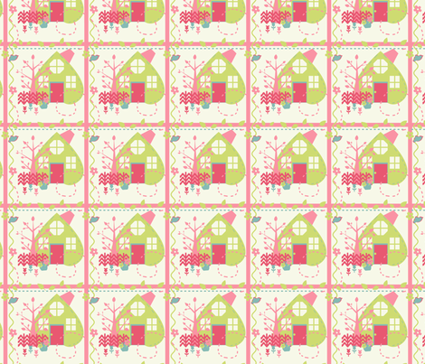 Sweet Home fabric by eppiepeppercorn on Spoonflower - custom fabric