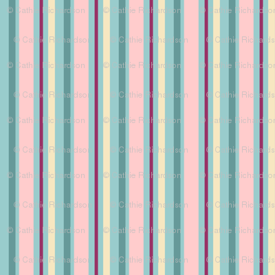 Aqua Blush Stripe