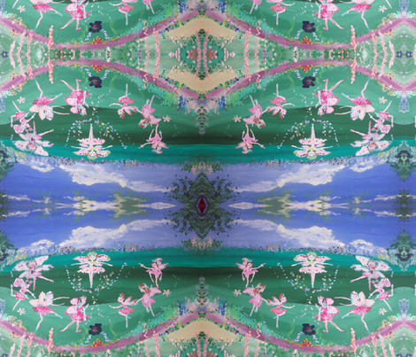 Meadow Fairies fabric by myartself on Spoonflower - custom fabric