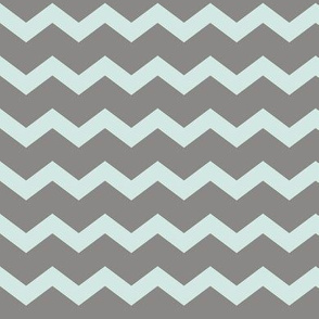 Grey Aqua Chevron