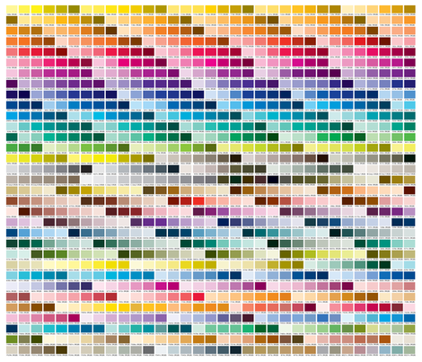 Pantone Coated Color Chart (1 yard) fabric by heatherdutton on Spoonflower - custom fabric