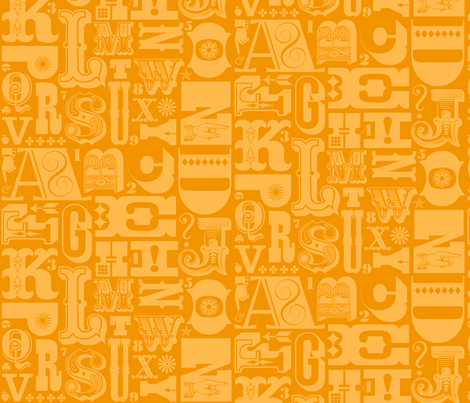 Woodtype Alphabet - Mono Orange