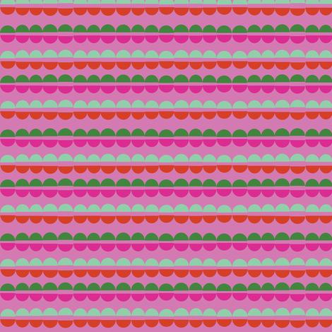 Popcorn Strings* (Pink Liza) fabric by pennycandy on Spoonflower - custom fabric