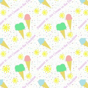Summer...is ice cream in the sunshine