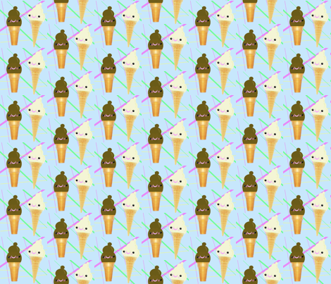 We all scream for ice cream! fabric by itybitybags on Spoonflower - custom fabric
