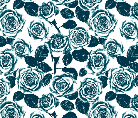 Jade Roses fabric by twobloom on Spoonflower - custom fabric