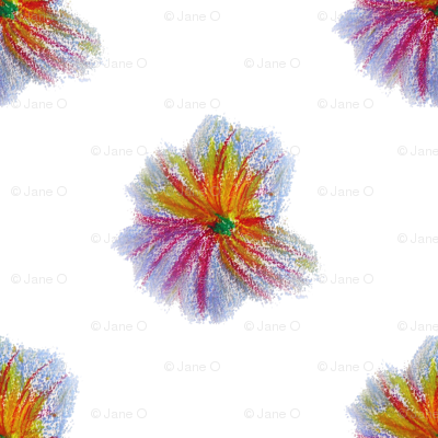 Pastel_drawing_little_flowers_on_white
