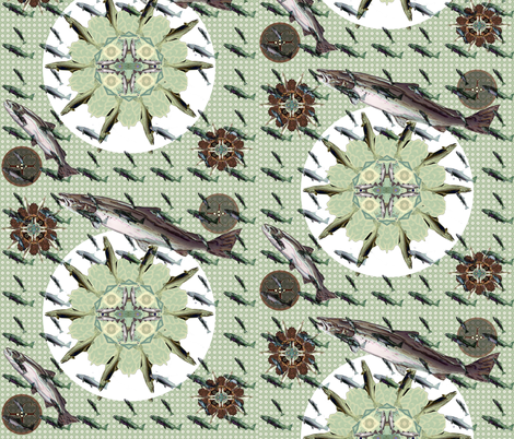 Fishing Place settings fabric by kaerushisho on Spoonflower - custom fabric