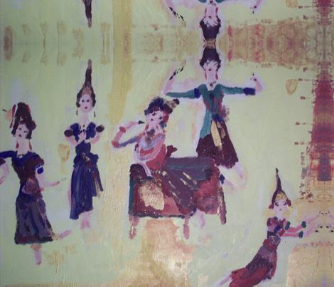 Thai Dance fabric by myartself on Spoonflower - custom fabric