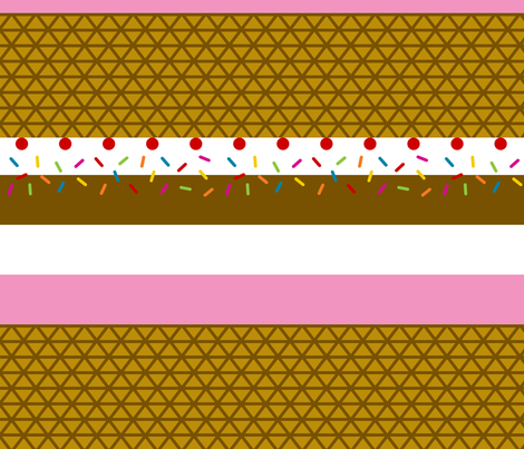 Ice Cream Stripe fabric by modgeek on Spoonflower - custom fabric