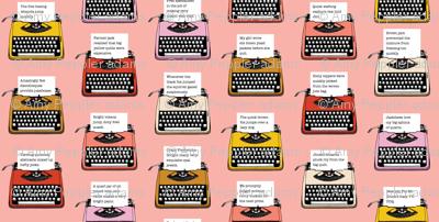 Pangram Typewriters* (Peach Halves) || vintage retro typewriters text typography poetry geek office