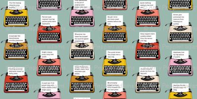 Pangram Typewriters* (Camouflage) || vintage retro typewriters text typography poetry geek office
