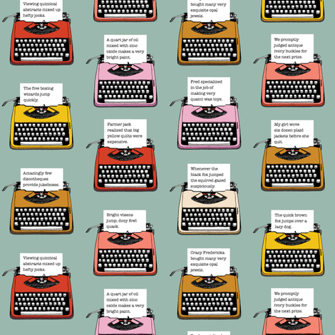 Pangram Typewriters* (Camouflage) fabric by pennycandy on Spoonflower - custom fabric