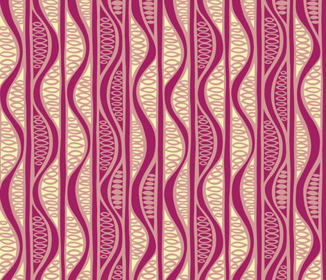 Peapods in plum fabric by havemorecake on Spoonflower - custom fabric